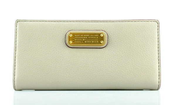 Marc By Marc Jacobs Taupe Slim Long Flap Wallet