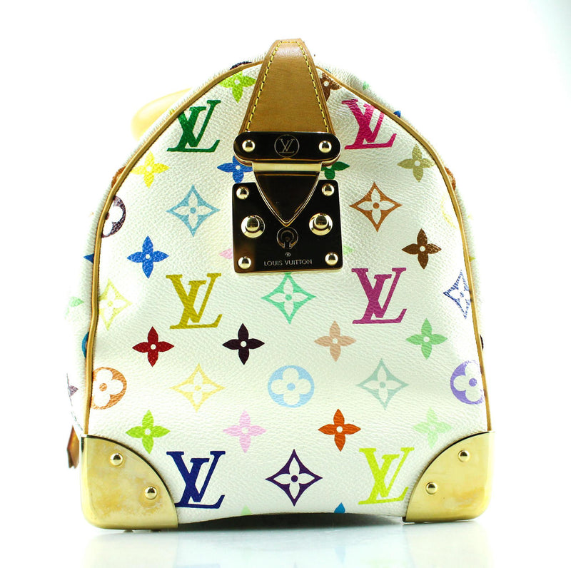 Louis Vuitton City Speedy 30 White Multicolour Rare SD0015