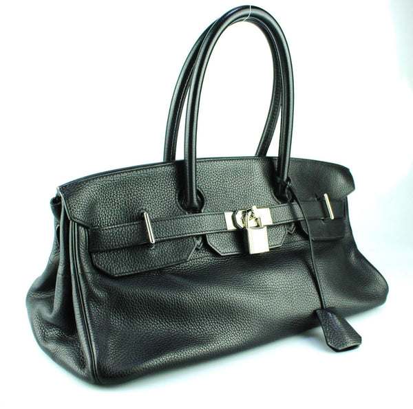Hermes JPG Shoulder Birkin 42cm Black Clemence Leather Palladium Hardware 2005