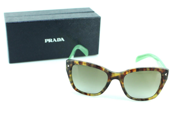 Prada SPR09S Tortoise/Colour Block Teal Sunglasses