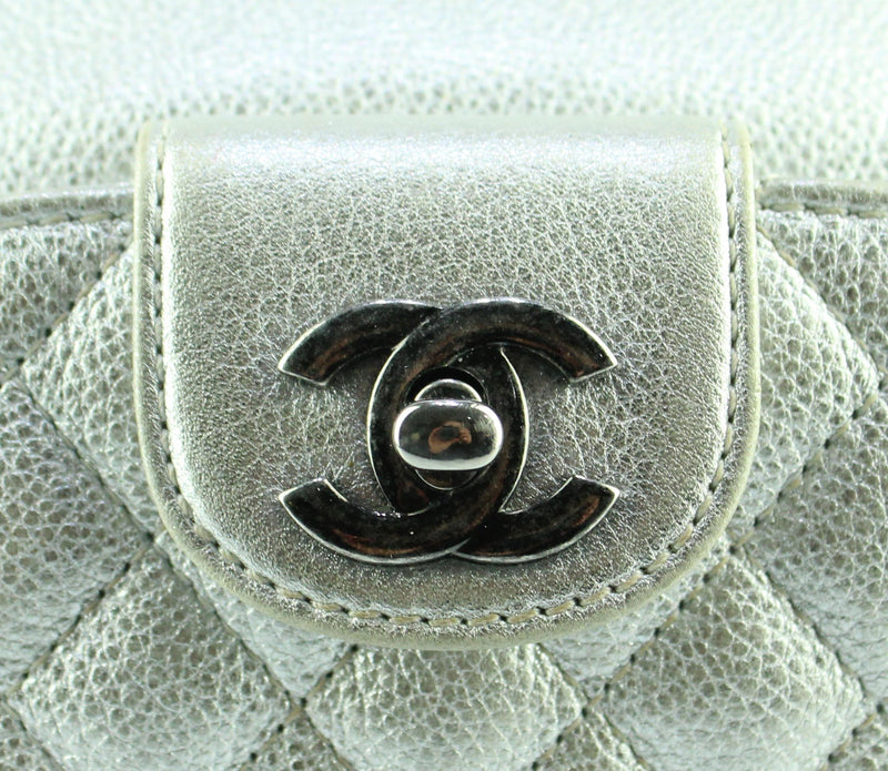 Chanel Caviar Metallic Silver Casual Rock Waist Bag 2016/17