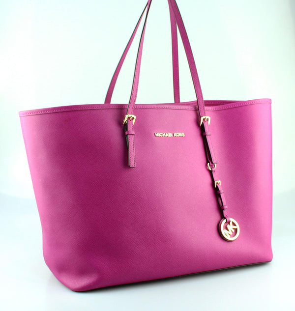 Michael Kors Pink Saffiano Jet Set Travel Tote GH