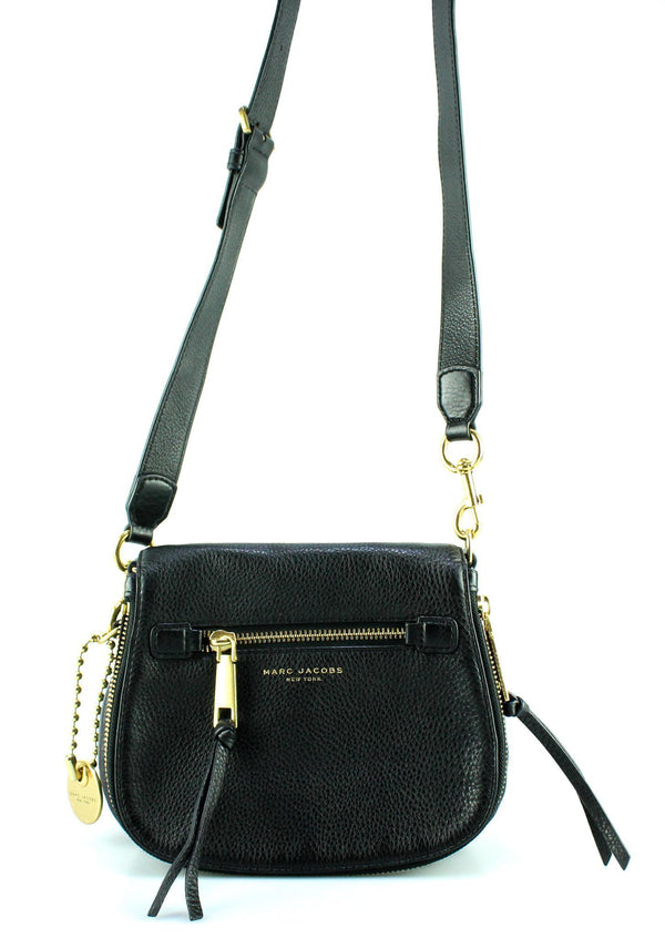 Marc Jacobs Small Black Recruit Saddle Bag
