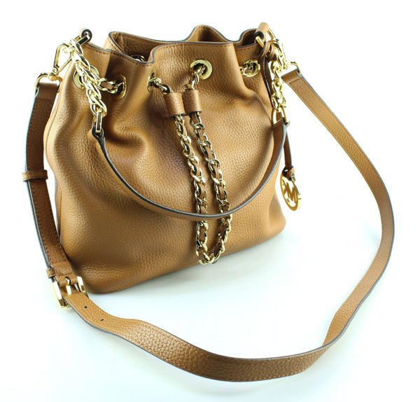 Michael Kors Frankie Medium Tan Bucket Bag
