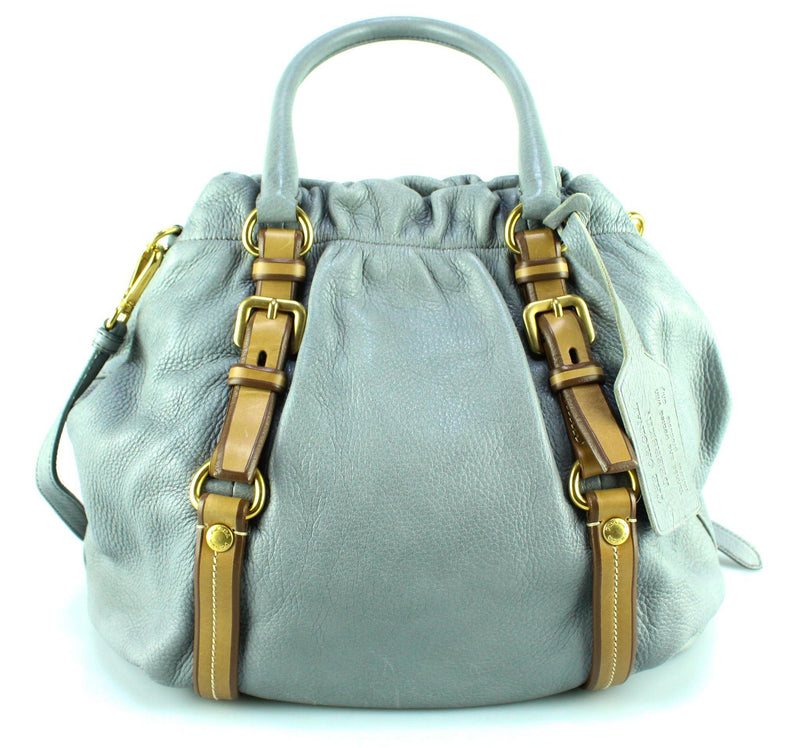 Prada Aviation Blue Cervo Antik Hobo