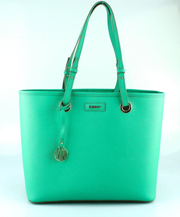 DKNY Green Large Saffiano Shopper GH
