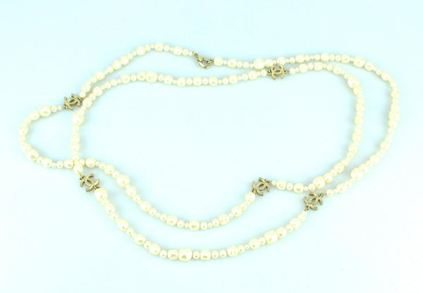 Chanel 2013 Double Strand Fresh Water Costume Pearl Pearl Necklace