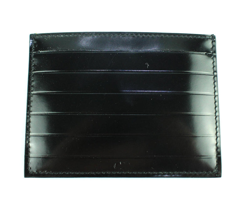 Christian Dior Patent Leather Card Holder Black