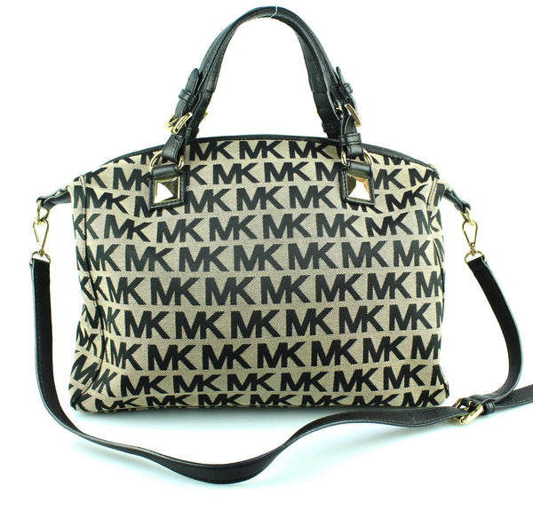 Michael Kors Black Monogram Calista Tote GH