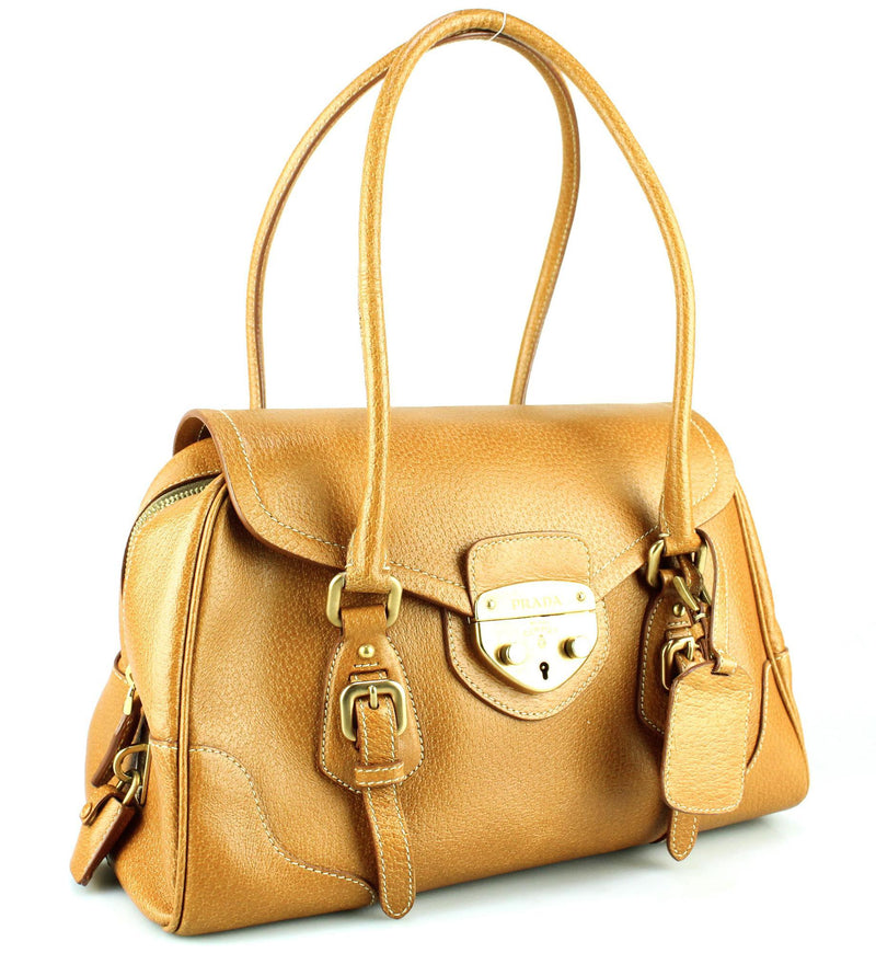 Prada Cinghiale Cuoio Top Handle Bag