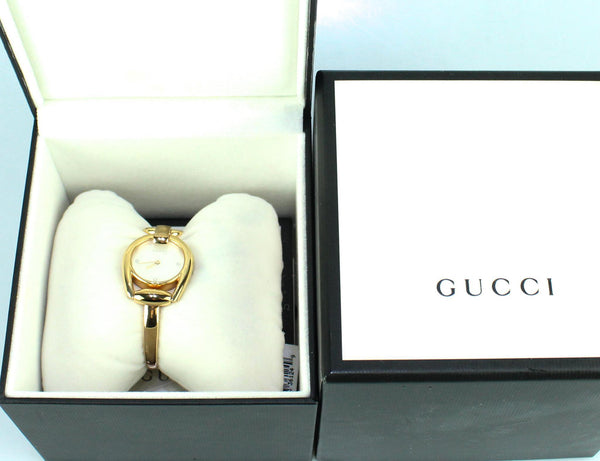 Gucci Rose Gold Horsebit Watch With Sapphire Crystals 28mm Mother Of Pearl Dial (2)