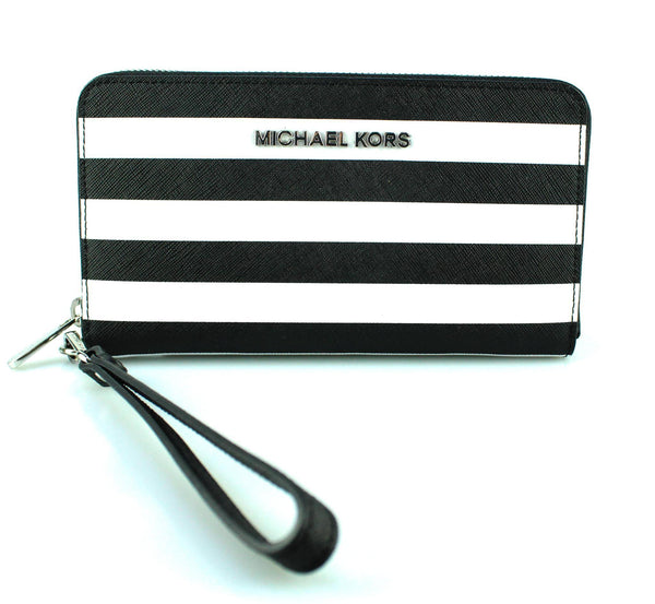 Michael Kors Large Striped Multifunction Wallet