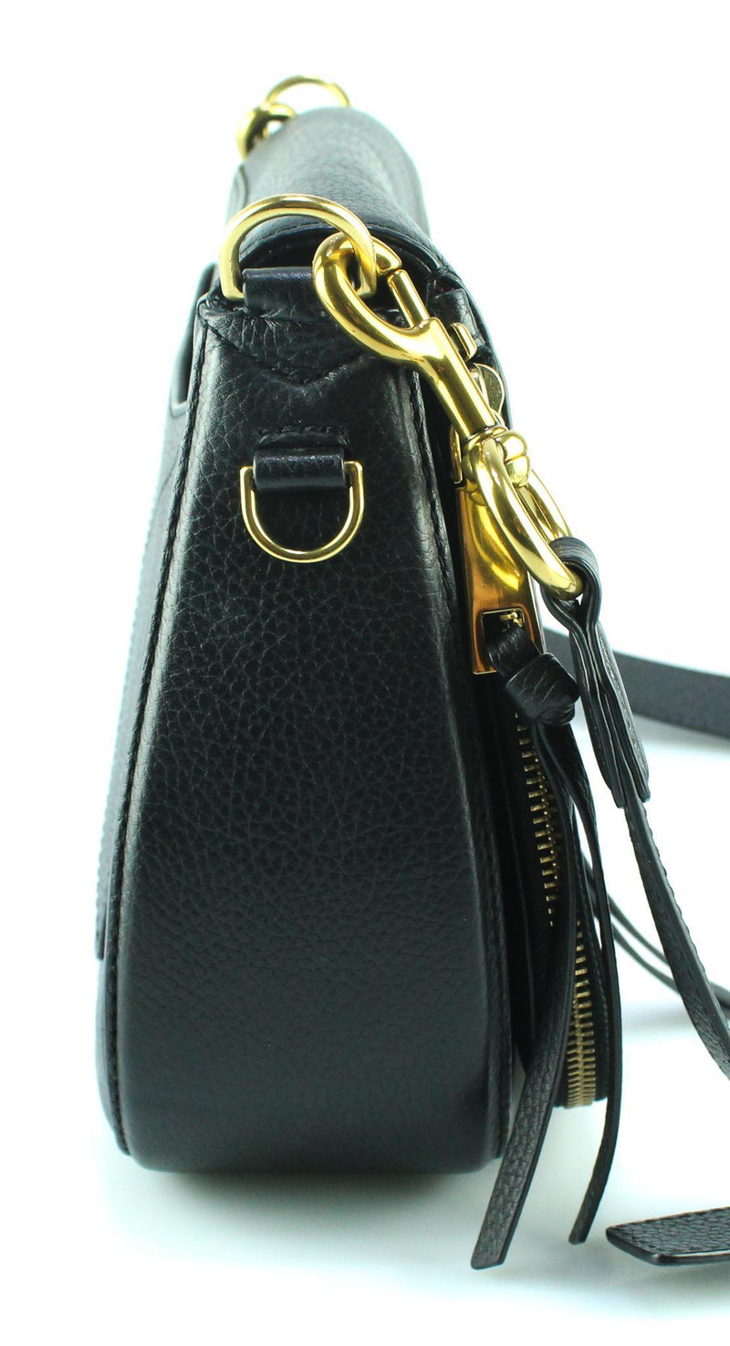 Marc Jacobs Black Recruit Saddle Bag GH Large (2)