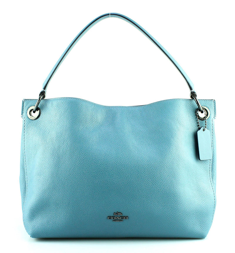 Coach Clarkson Hobo Steel Blue