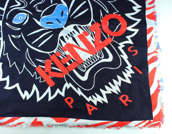 Kenzo Paris Large Cotton/Silk Tiger Shawl
