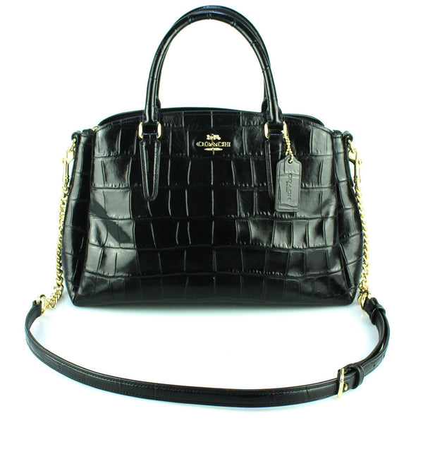 Coach Sage Carryall Croc Embossed With Strap