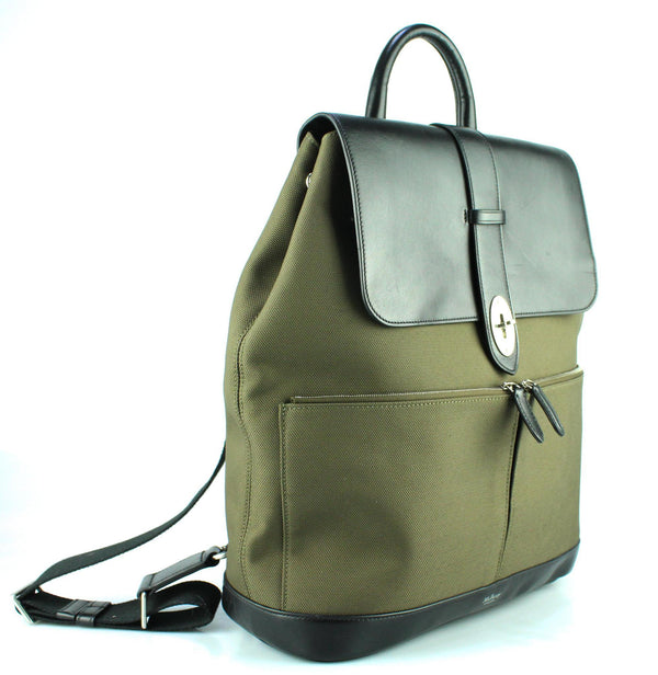 Mulberry Reston Backpack Khaki Nylon And Leather