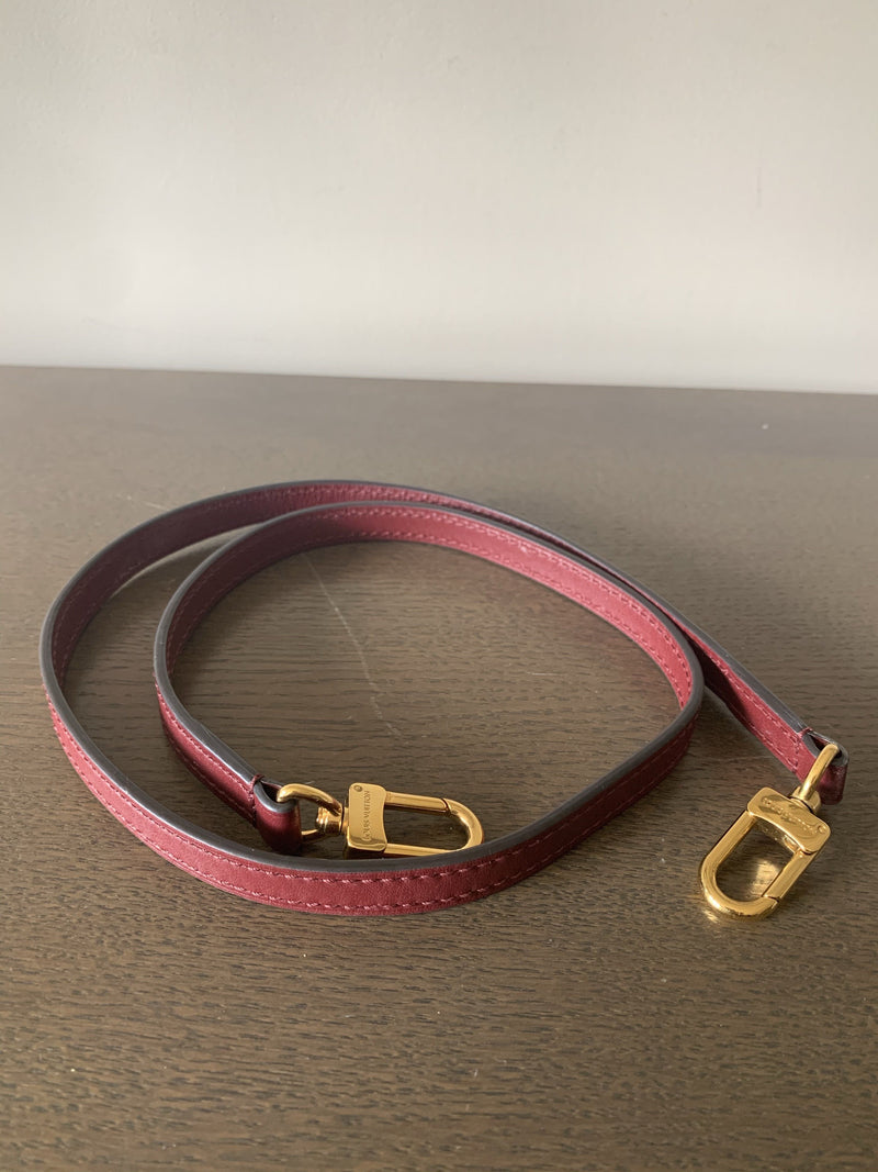 Louis Vuitton Wine Leather Long Strap