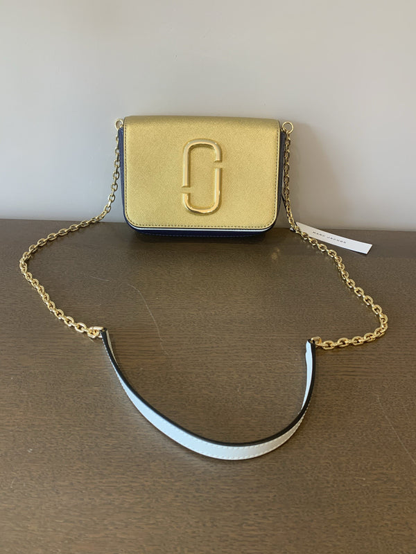 Marc Jacobs Gold/Navy/Cream Hipshot Belt Bag/Crossbody