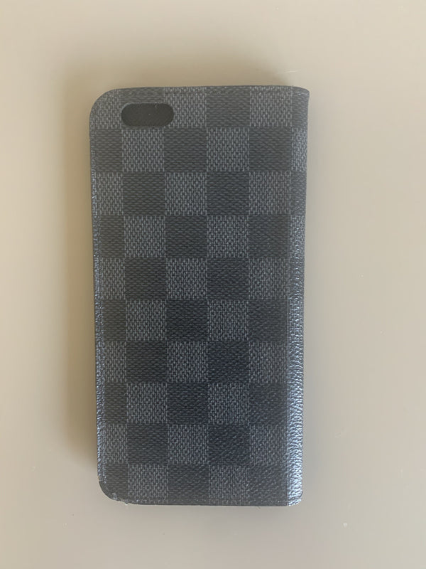 Louis Vuitton Damier Graphite iPhone Case **3125 (Hotstamped GMH)