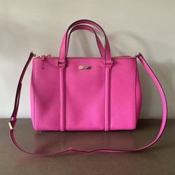 Kate Spade Hot Pink Leather Newbury Lane Loden Tote
