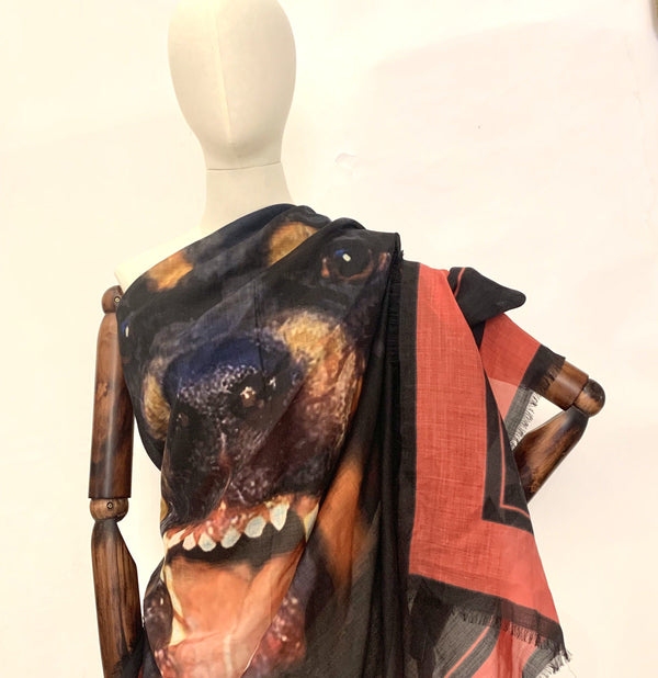 Givenchy Rottweiler Cashmere/Silk And Virgin Wool Shawl