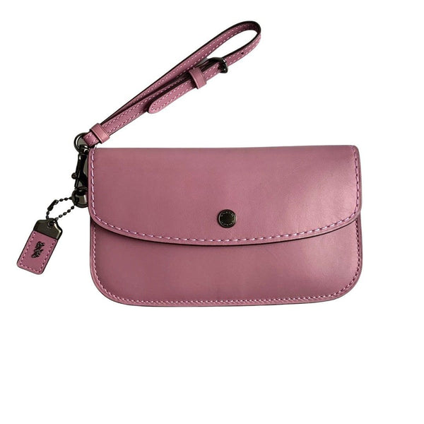Coach Glovetanned Leather Light Purple Clutch/Wristlet