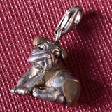Thomas Sabo Bull Dog Charm Brown And Silver