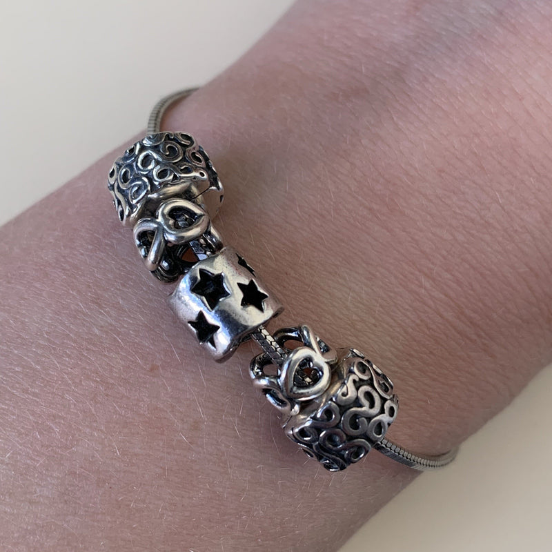 Pandora Silver Heart Spacers (1)