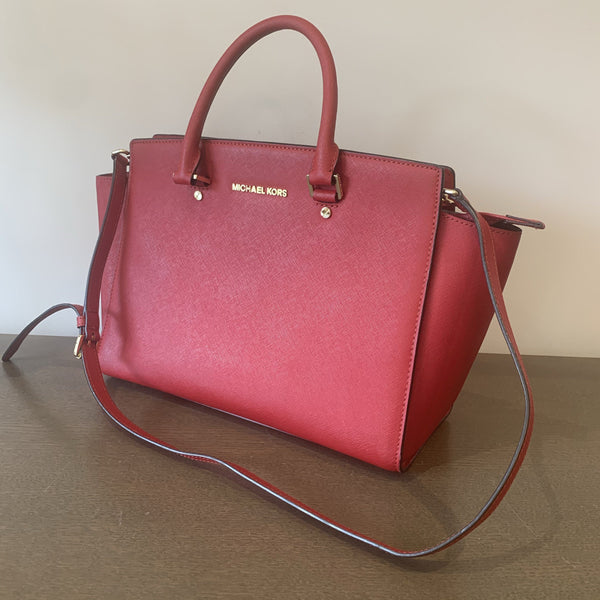 Michael Kors Red Saffiano Selma GH