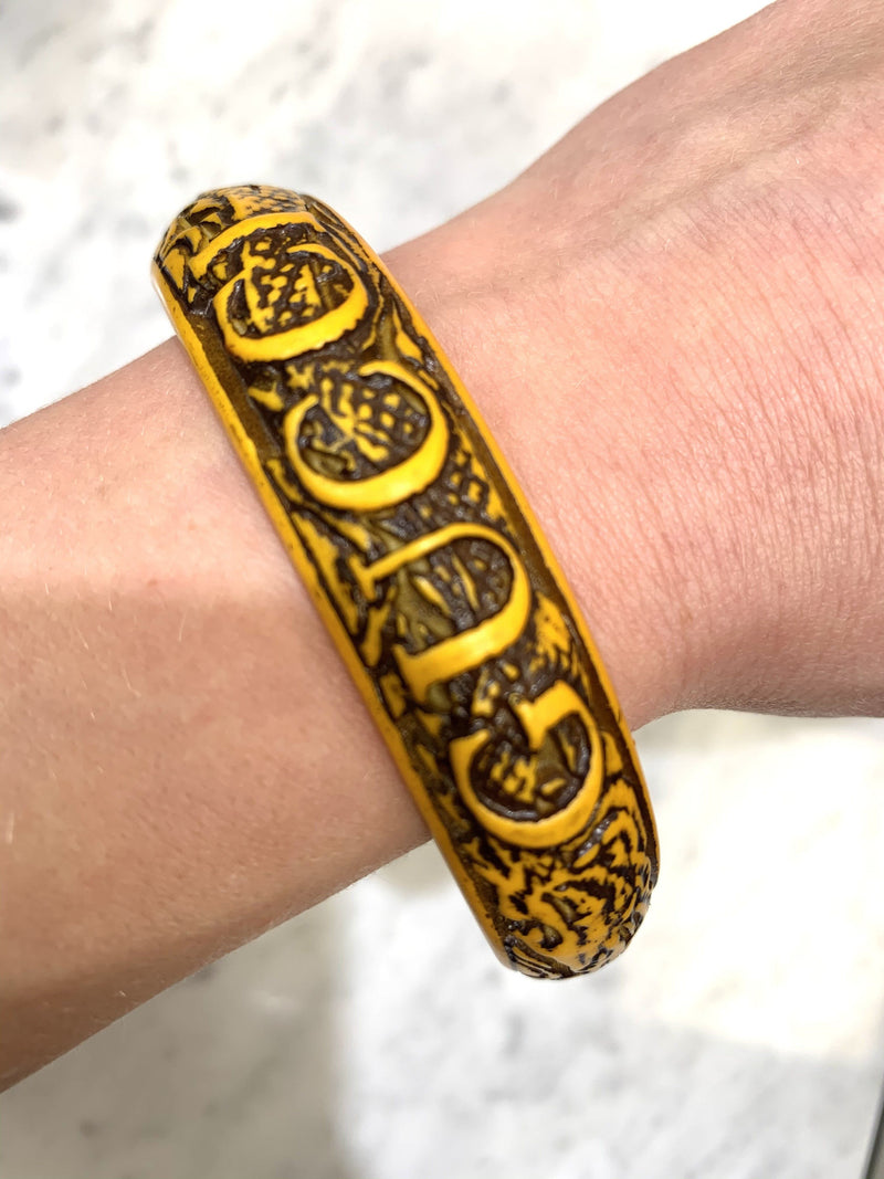 Gucci Yellow Resin Large Serpent Bangle