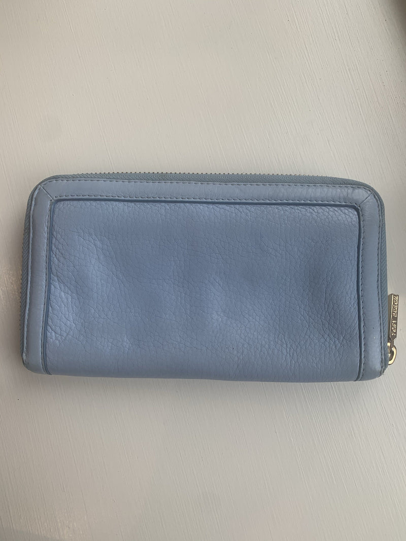 Tory Burch Sky Blue Leather Amanda Wallet