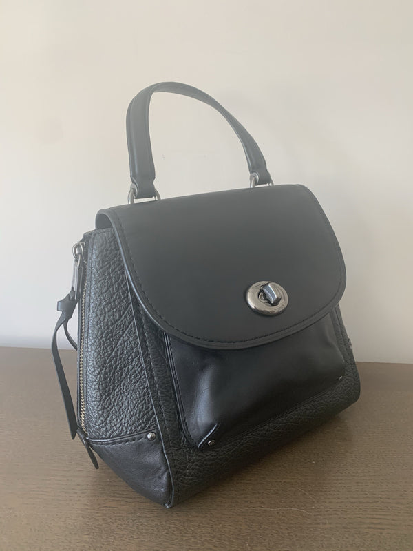 Coach Black Faye Backpack/Cross Body