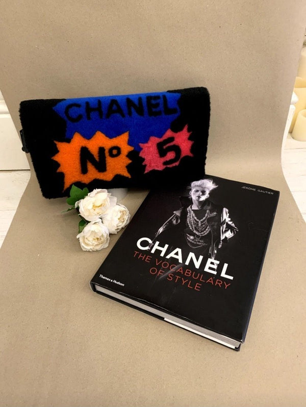 Chanel No5 Comic Clutch Shearling And Leather (Rare) 2014