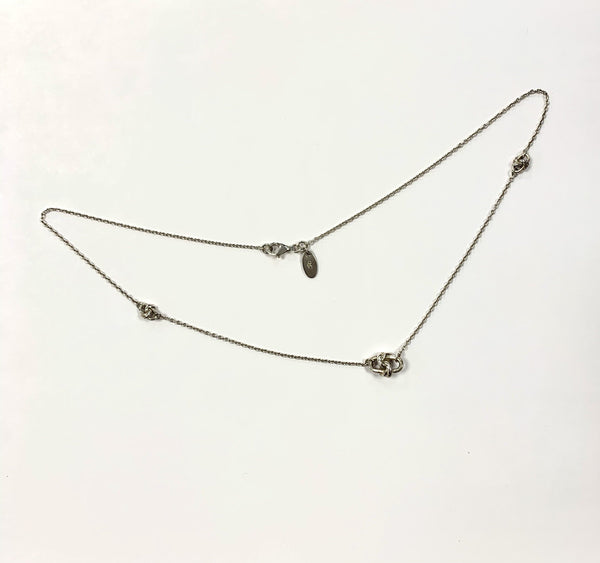 Links Of London Sterling Silver Triple Knot Pendant Choker