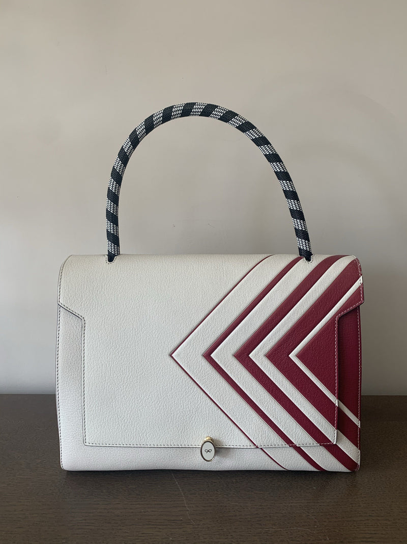 Anya Hindmarch Bathurst Tote Red/Cream
