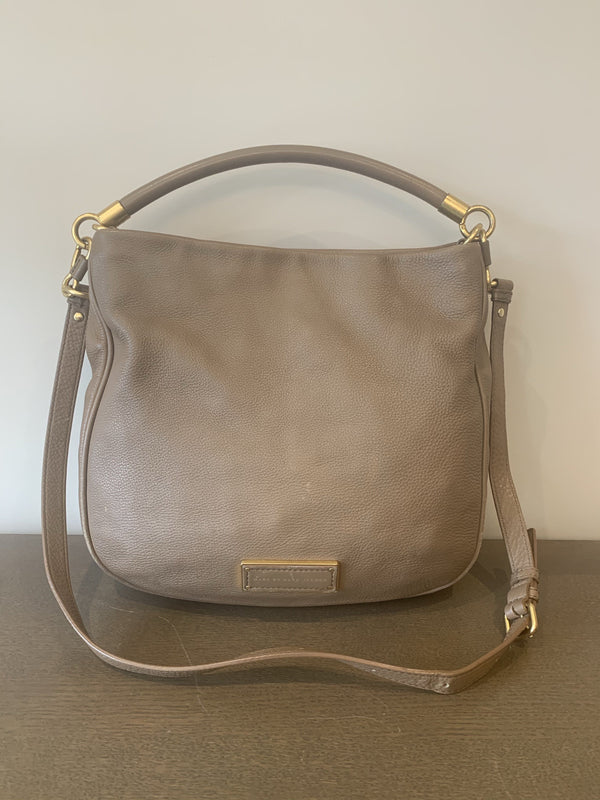 Marc By Marc Jacobs Taupe Leather Too Hot To Handle Hobo GH