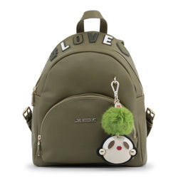 Love Moschino Green Love Backpack With Charm
