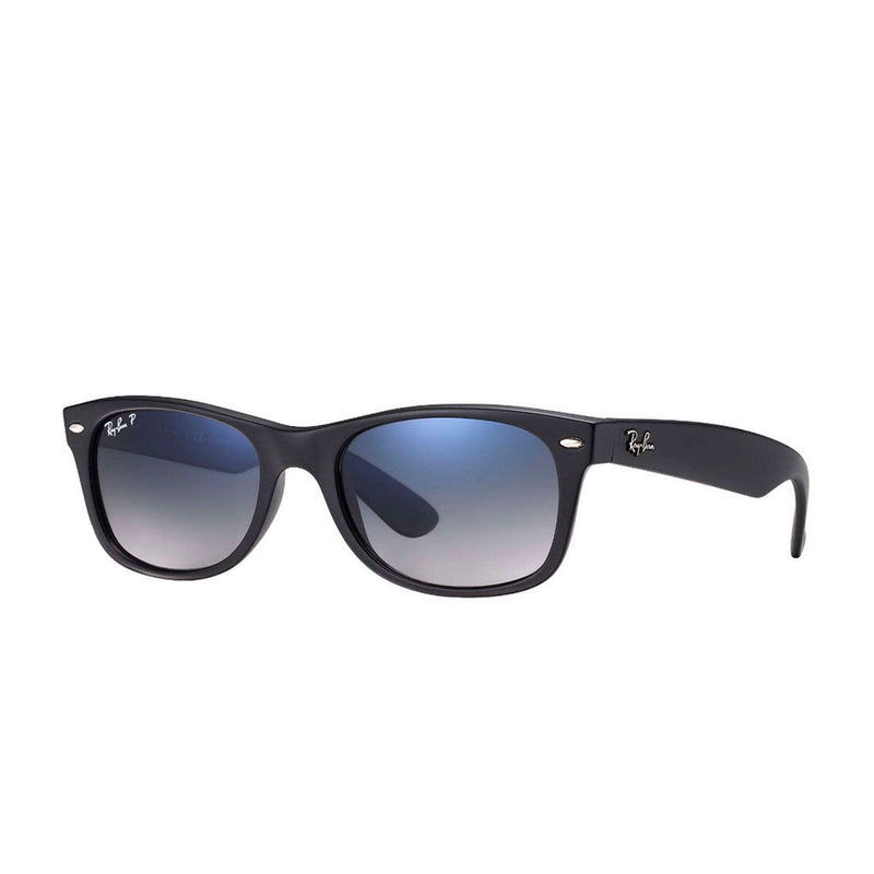 Rayban  Polarized New Wayfarer Sunglasses Black Matte 55 Blue Hue