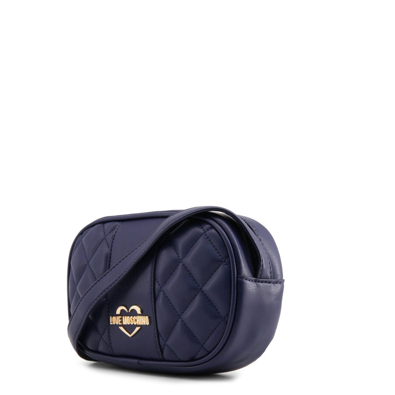 Love Moschino Dark Blue Quilted Camera Bag