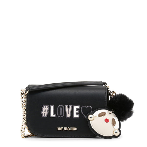 Love Moschino Black Love Flap Crossbody Bag