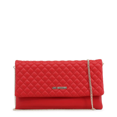 Love Moschino Red Quilted Chain Convertible Bag e2ef589b9aad4
