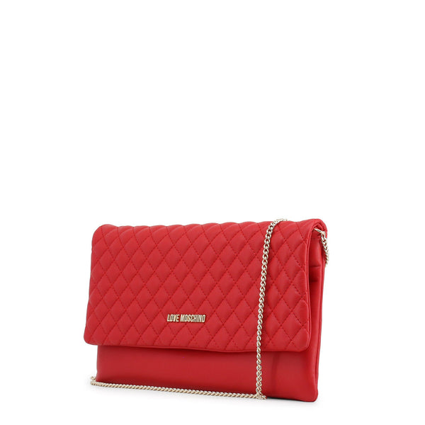 Love Moschino Red Quilted Chain Convertible Bag