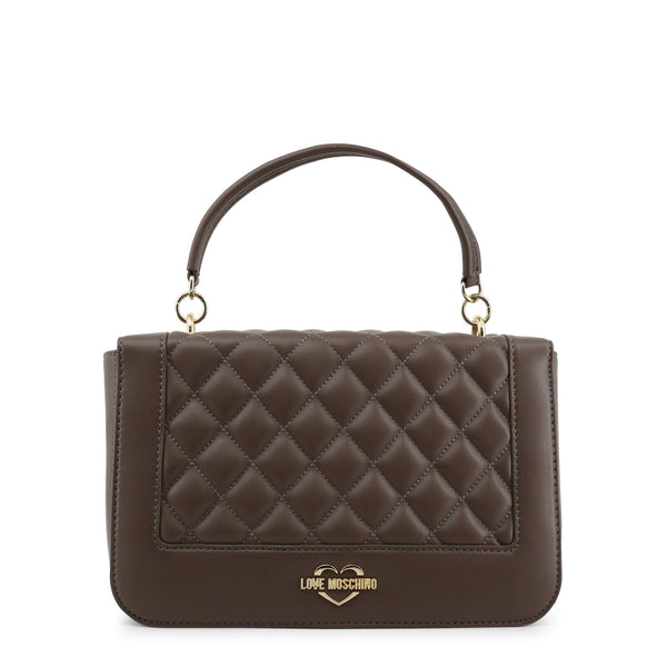 Love Moschino Taupe Quilted Chain Bag GH