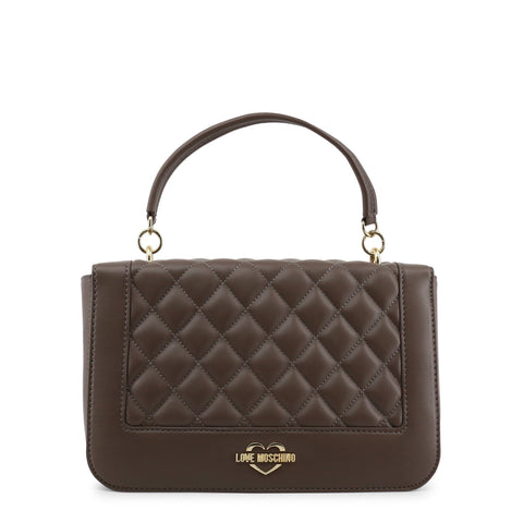 ba6fd711b7ed Love Moschino Taupe Quilted Chain Bag GH