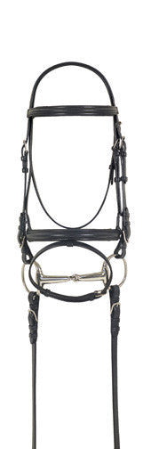 Camelot Dressage Bridle with Anti-Slip Reins