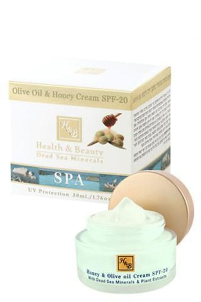 Health and Beauty Olive Oil & Honey Cream SPF-20 - Dead Sea Cosmetics Products