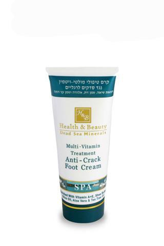 Health and Beauty Multi-Vitamin Treatment Anti-Crack Foot Cream - Dead Sea Cosmetics Shop
