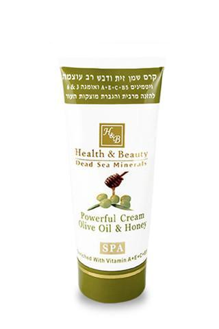 Health and Beauty Powerful Olive Oil & Honey Cream - Dead Sea Cosmetics Shop