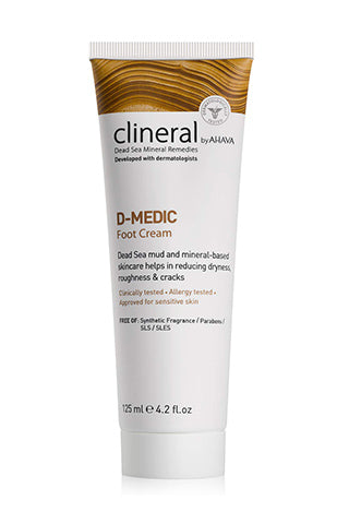 CLINERAL -  D-MEDIC Foot Cream - Dead Sea Cosmetics Products